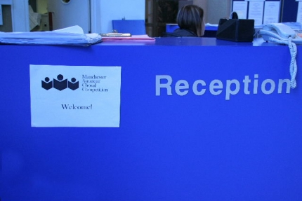 reception desk...
